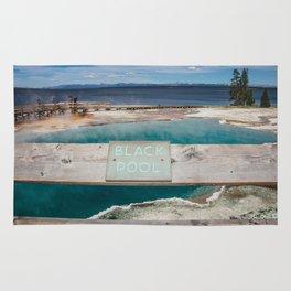 Black Pool, West Thumb Geyser Basin, Yellowstone National Park Rug