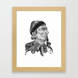 'Jaques Cousteau' by Sarah King Framed Art Print