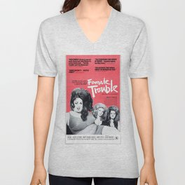 Vintage Female Trouble Movie Poster Unisex V-Neck