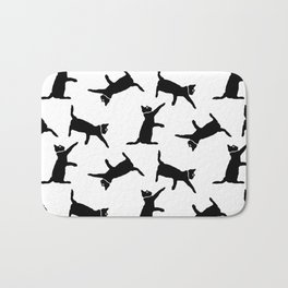 Cats on White Bath Mat