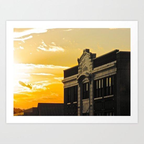 Palace Theatre Sunset Art Print