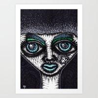 goth Art Prints featuring GOTH by NICHOLAS PRICE ART PRINTS