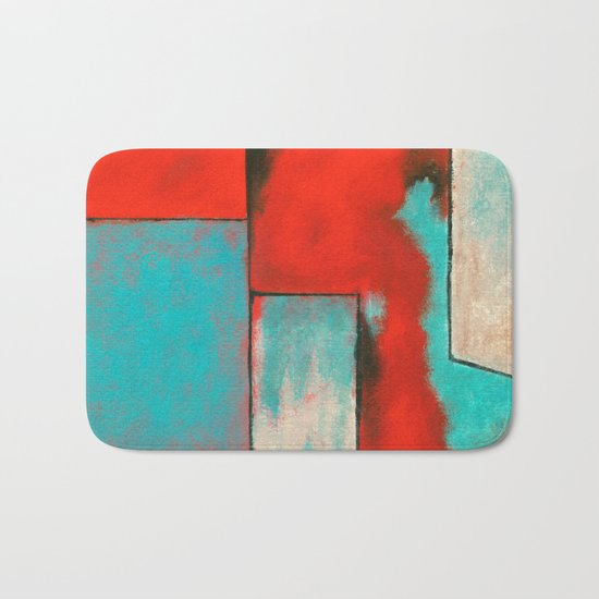 The Corners of My Mind, Abstract Art Painting Bath Mat