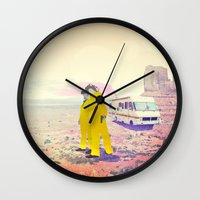 breaking bad Wall Clocks featuring Breaking Bad by PIXERS