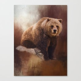Great Strength - Grizzly Bear Art by Jordan Blackstone Canvas Print