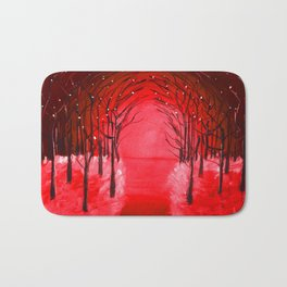 The Red Forest Painting Bath Mat