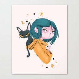 Twitchy, Witchy Girl Canvas Print
