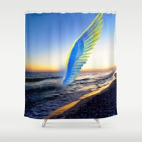 angel Shower Curtains featuring Angel  by Saundra Myles