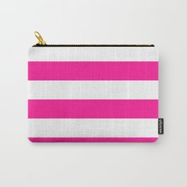 Wide stripes / deep pink Carry-All Pouch