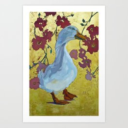 Lucy the Peking Duck Art Print