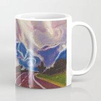 road Mugs featuring Road by Shazia Ahmad