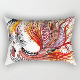 Dreamy Rooster Rectangular Pillow