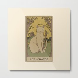 Ace of Wands Metal Print