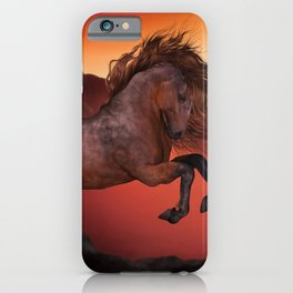 A Horse In The Sunset iPhone Case