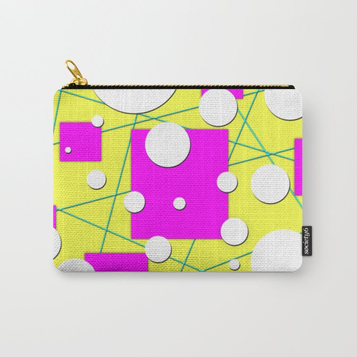 Geo Shape Play in Summertime Colors Carry-All Pouch