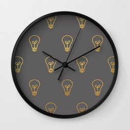 Lightblub Moment Wall Clock