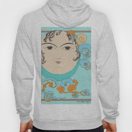 Turquoise Moon face Hoody