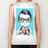 superman Biker Tanks featuring superman by Studio de Shan