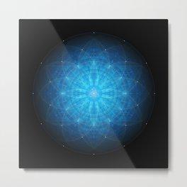 crystal mind. sacred geometry mandala Metal Print