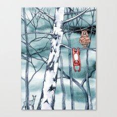 Bored monkey Canvas Print