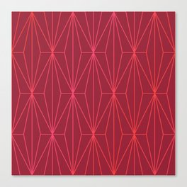 JESTER RED GEOMETRICAL NO1 Canvas Print