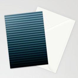 Stripeylicious OceanBlue Stationery Cards
