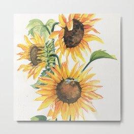 Sunny Sunflowers Metal Print