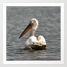The Sea Breeze Blows The Pelican Where He Wants To Go Art Print