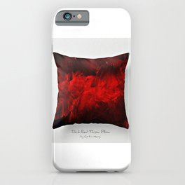 Dark Red Throw Pillow Art Print 3.0 #postmodernism #society6 #art iPhone Case