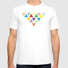 TRIANGLE COMPOSITION MEDIUM Mens Fitted Tee White