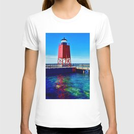 """""""Charlevoix Lighthouse Reflections"""" T-shirt"""