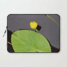 Yellow waterlily with lily pad Laptop Sleeve