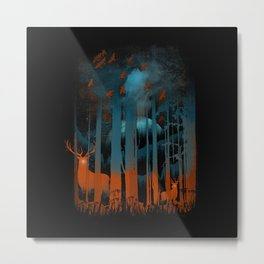 NIGHT NEGATIVITY Metal Print