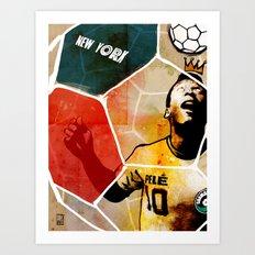 The New York Cosmos' Pelé (King of Soccer) Art Print