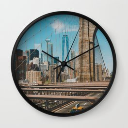 The Bridge in New York City (Color) Wall Clock
