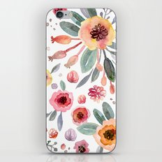 flower watercolor 2 iPhone Skin
