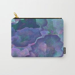 Blue and teal abstract watercolor Carry-All Pouch