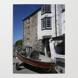 HARBOUR BUILDINGS PORT ISAAC CORNWALL Poster