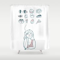 food Shower Curtains featuring food  by natichuleta