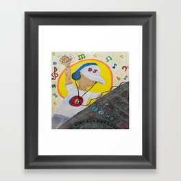 DJ Man Framed Art Print