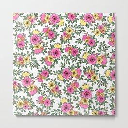 Spring Bunch Watercolor Metal Print