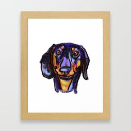 The happy Doxie Love of My Life Framed Art Print