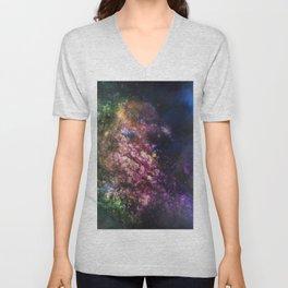 Rainbow Nebula Unisex V-Neck