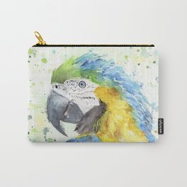 "Watercolor Painting of Picture ""Macaw"" Carry-All Pouch"