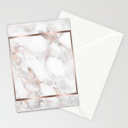 Luxury Rose-gold Faux Marble Stationery Cards