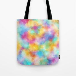 Watercolor Rainbow Abstract Art Tote Bag