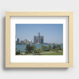 Detroit From Windsor Recessed Framed Print