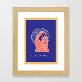 Florence Illustration Framed Art Print