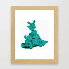 Rod Rabbit Framed Art Print