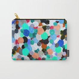 Aqua Rainbow Paint Drops Carry-All Pouch